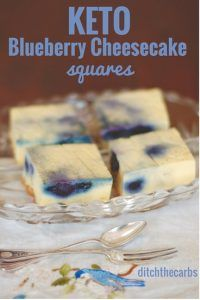 Oh my word. You have seriously got to try these uber easy keto blueberry cheesecake squares. All made with a stick blender and incredibly low in carbs. #sugarfree #lowcarb #keto   ditchthecarbs.com