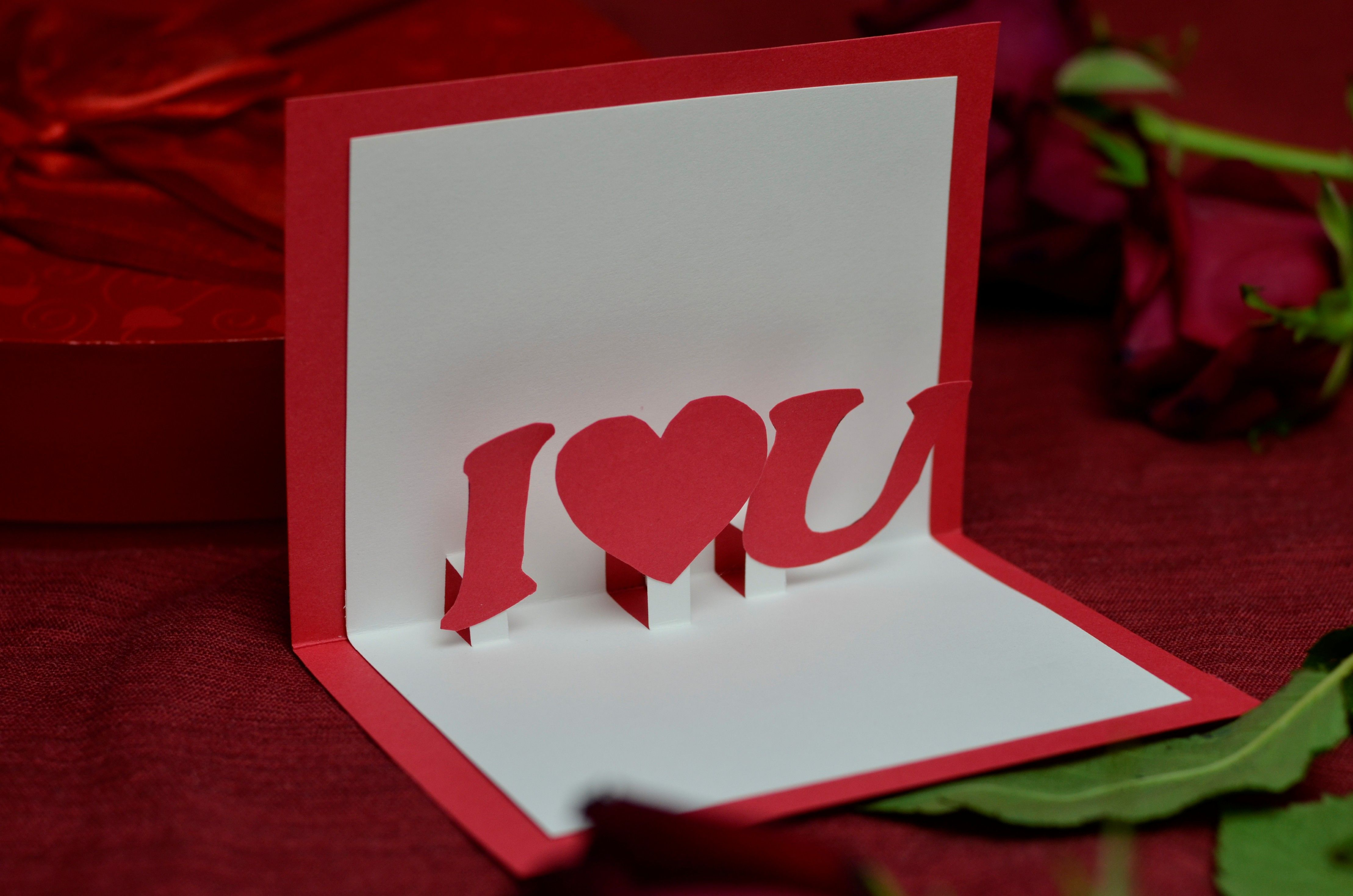 Valentine S Day Free Pop Up Card Template Creative Pop Up Cards Happy Valentines Day Pictures Valentine S Day Greeting Cards Valentines Cards