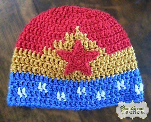 Wonder Woman Hat pattern by Nakesha Haschke | Gehäkelte mützen ...