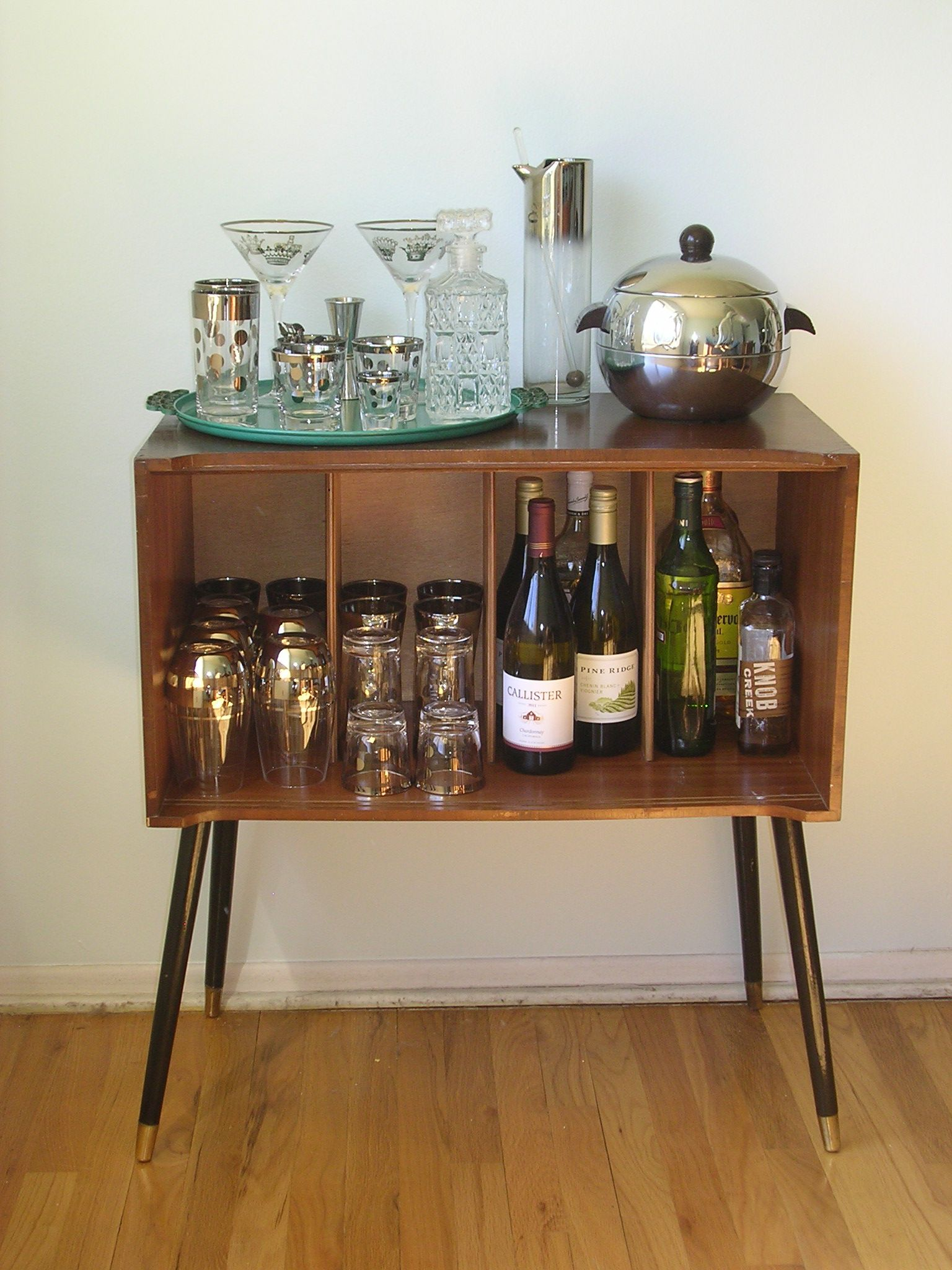 mid century record cabinet. Cute Alternative To A Bar Cart - Midcentury Record Cabinet Turned Into Bar! Mid Century S