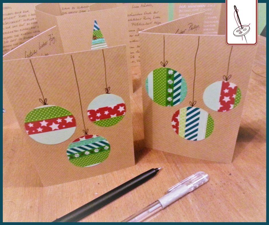 Weihnachtskarten basteln mit Kindern Tutorial von Lange Hand ...