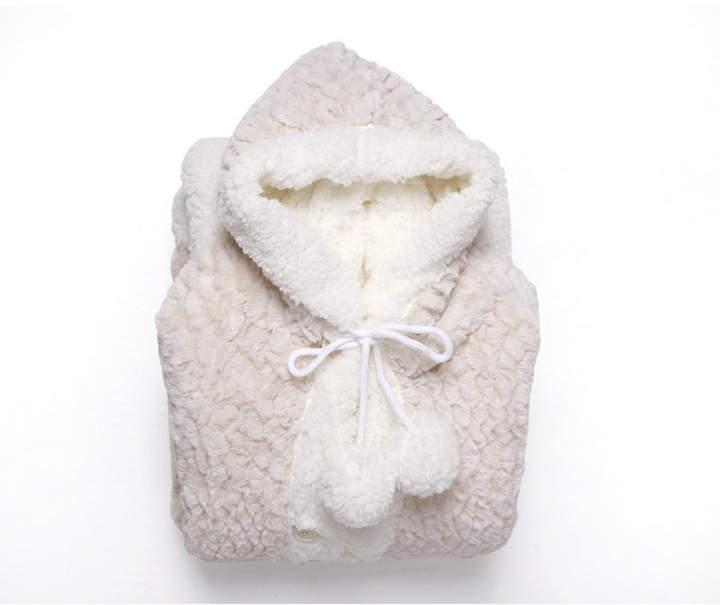 Chic Home Mosaic 51x71 Hooded Snuggle Bedding Wearable Blanket Faux Fur Blanket Fur Blanket
