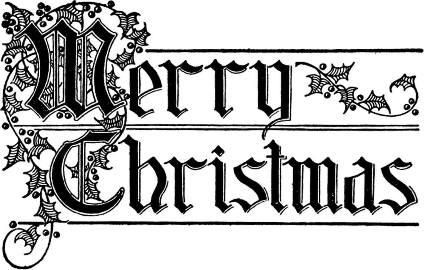 merry christmas logo black and white Merry christmas