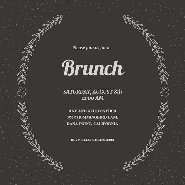 laurel semi frame free brunch lunch invitation template