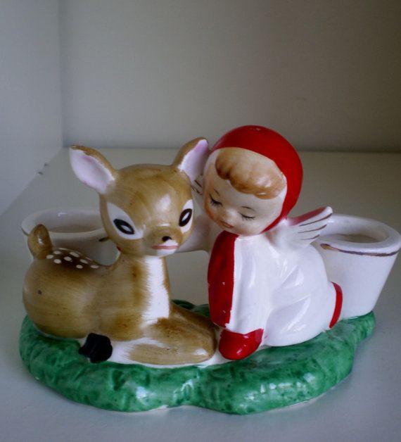Vintage Holt Howard Ceramic Figure Deer and by VINTAGEShopsDelight