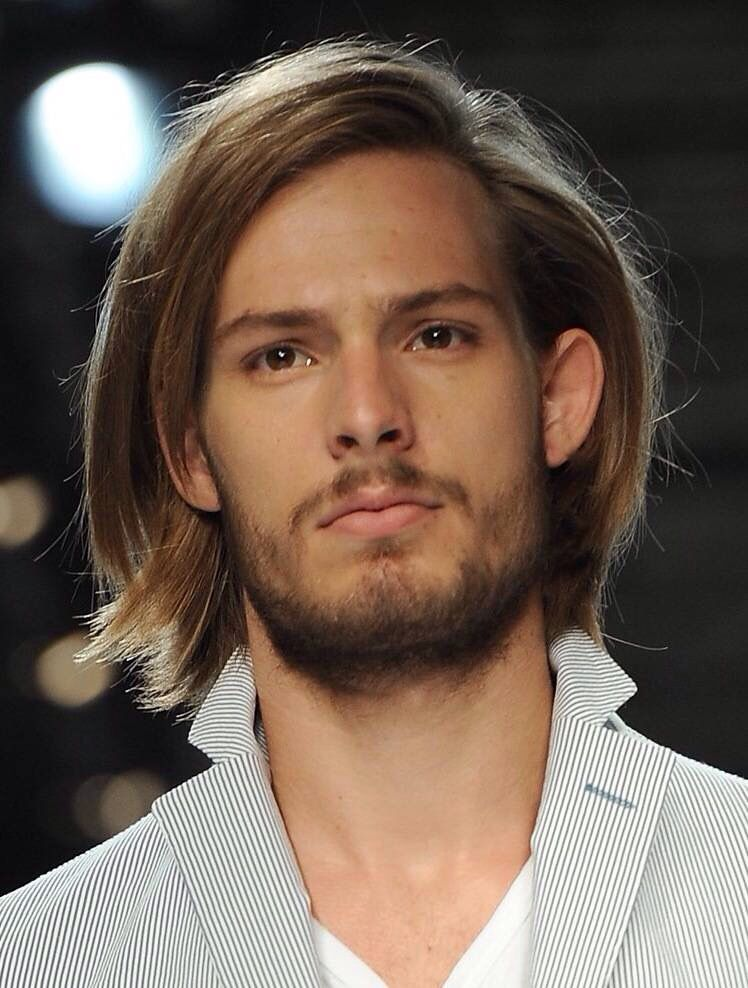 Long Straightened Hairstyle One Side Partition Boys Haircuts Long Hair Styles Men Boys Long Hairstyles