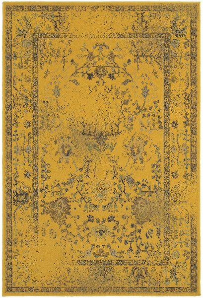 Yellow Overdyed Persian Style Rug Nursery Rugs