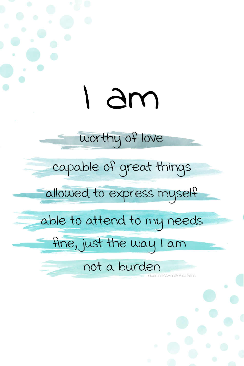 10 Affirmations for anxiety with free phone wallpapers