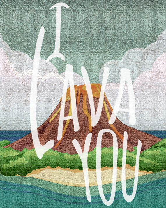 I Lava You Wall Hanging Pixar Lava Short by Precisely9Designs