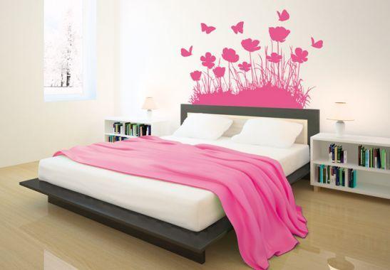 Wandtattoo Wandtattoo Mohnblumen Mit Schmetterlingen Coole Wande Wandtattoo Haus Deko