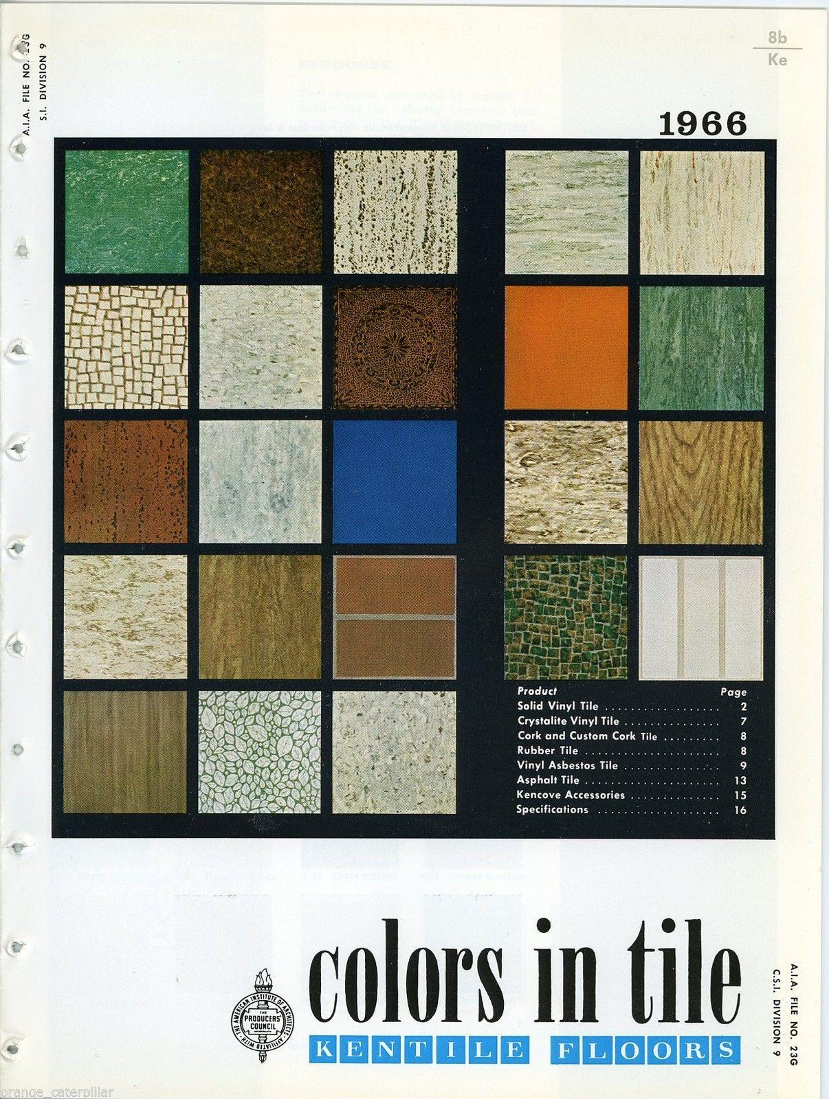 1966 Kentile Floors Tile Colors Mid Century Design Flooring Asbestos Tile Flooring Colorful Tile Floor