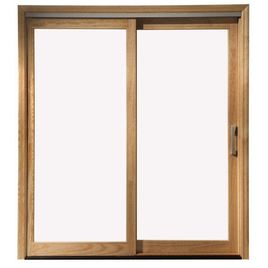 Shop Pella 450 Series 71.25-in Clear Glass Wood Sliding Patio Door at Lowes .com - Shop Pella 450 Series 71.25-in Clear Glass Wood Sliding Patio Door