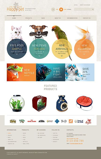 Template Pets Store Responsive Shopify Theme Ecommerce - Shopify product template