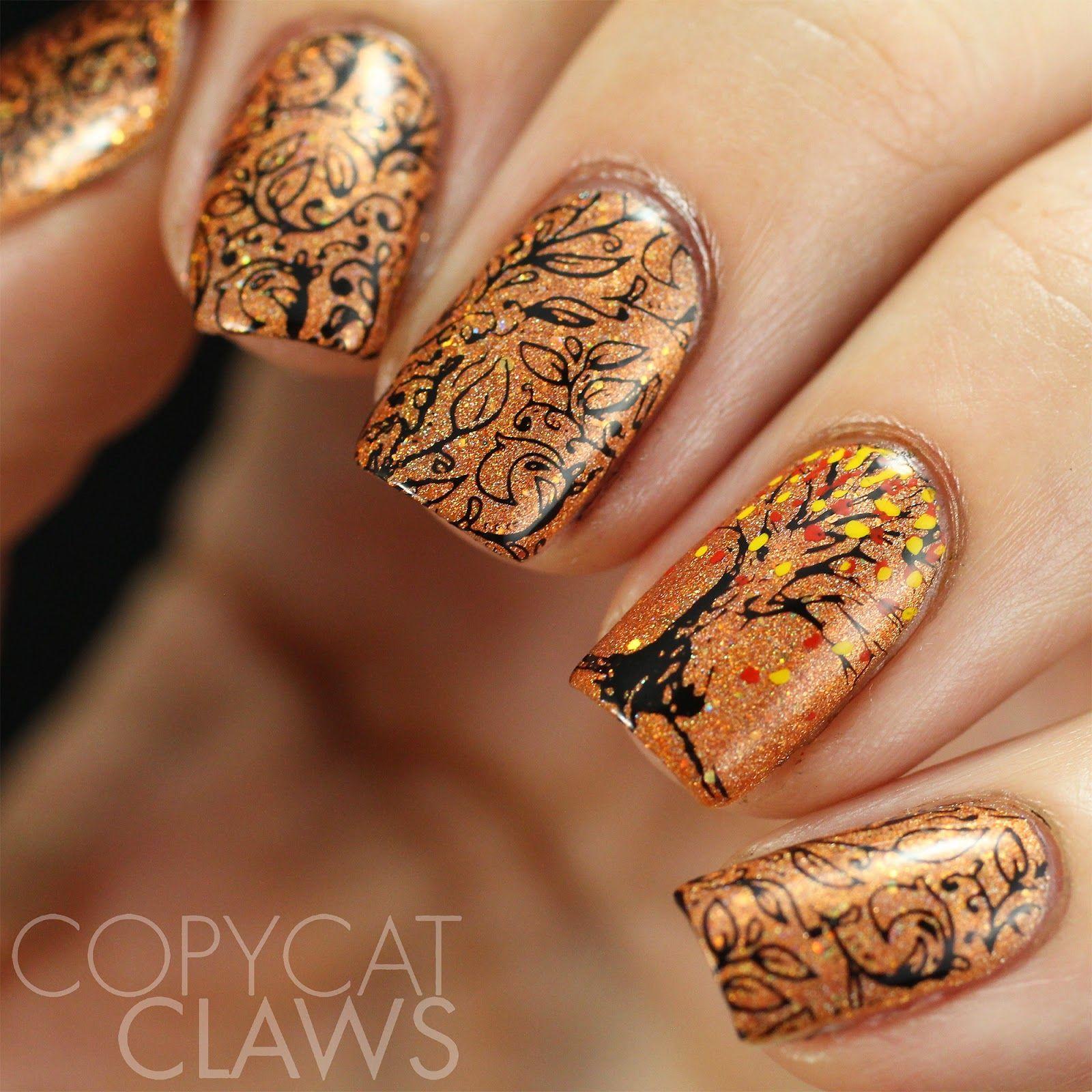 Copycat Claws: 40 Great Nail Art Ideas - Autumn | nail art ...