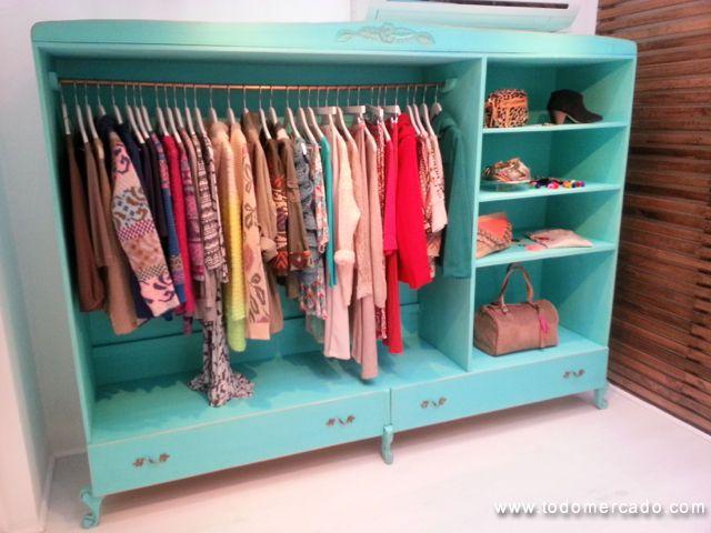 open wardrobe in turquoise color | Bedroom decor ideas | Pinterest ...