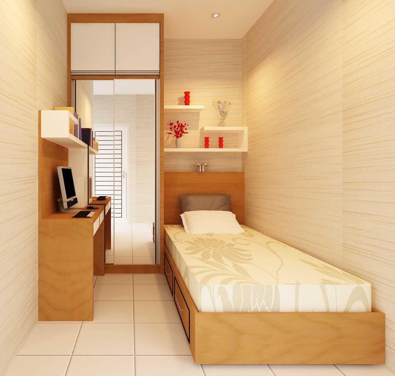 Desain Kamar Tidur Ukuran 3x3 Kayu | Cek Bahan Bangunan