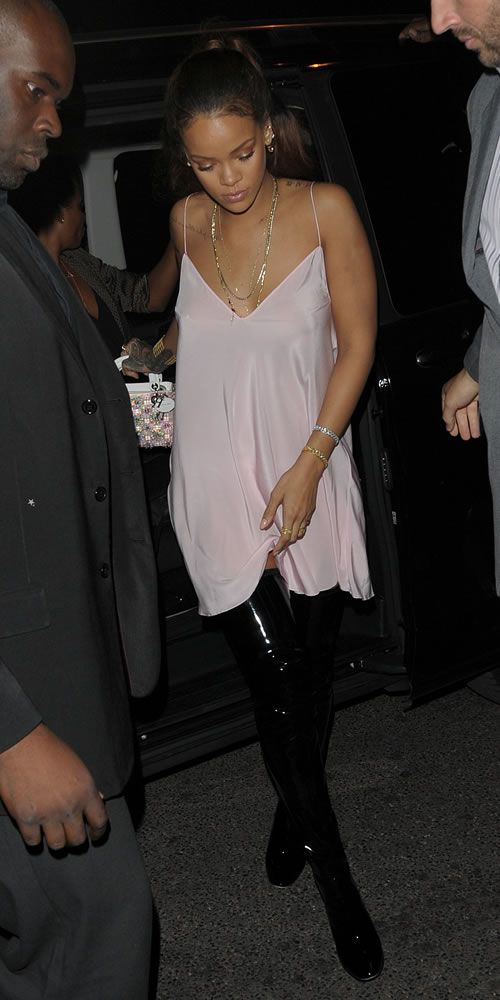 Rihanna partied in Paris wearing a custom Dior… | RIHANNA.STYLE