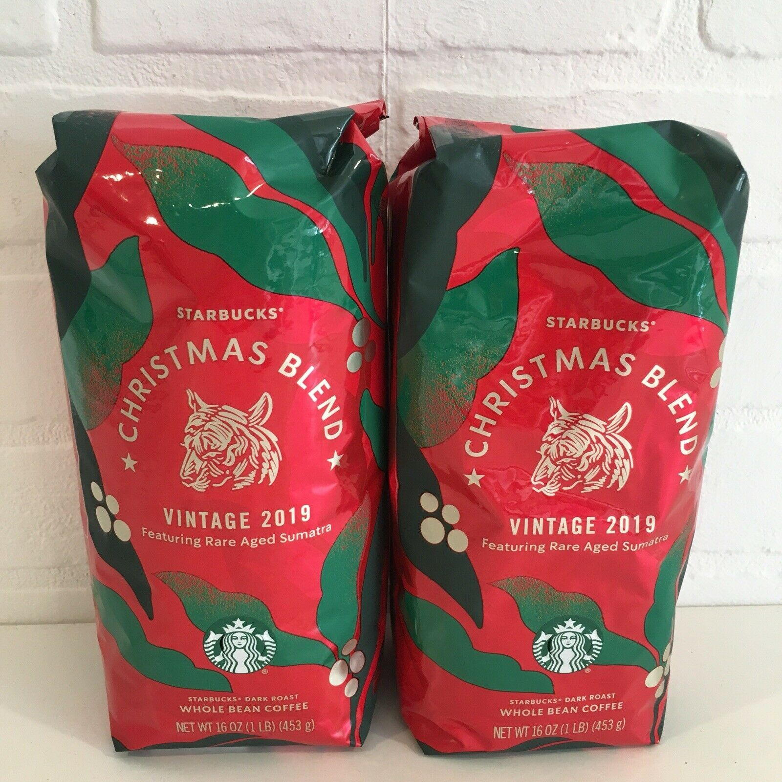 2 Sealed Bag Starbucks 2019 Christmas Blend Whole Bean Coffee Vintage 2lbs Rare Starbucks Coffee Drinks Coffee Best Starbucks Coffee