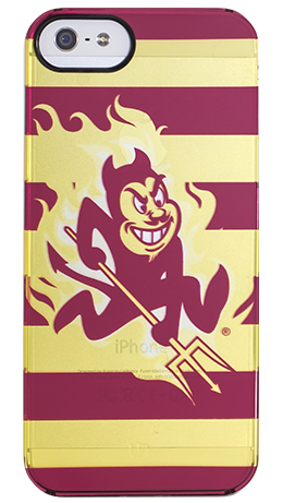 """""""ASU Stripes"""" by Uncommon for the iPhone 5 Clearly Uncommon™ Deflector"""