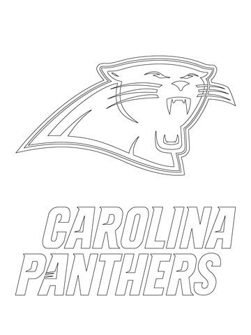 Carolina Panthers Logo Coloring page | Stencils for Art | Panthers ...