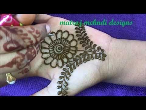 Arabic Mehndi Step By Step : Simple arabic henna mehndi designs for hands