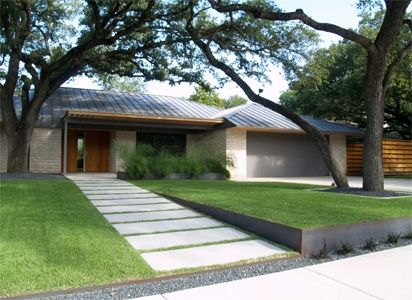Clean And Simple Modern Landscape Modern Front Yard Front Yard Design Modern Landscaping