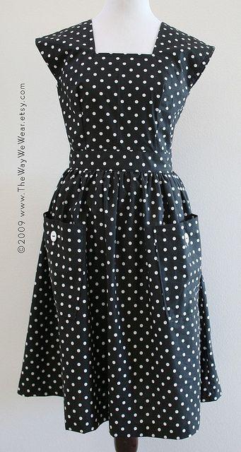1940\'s Pinafore Dress - Vintage Reproduction FRONT VIEW | Nähen ...