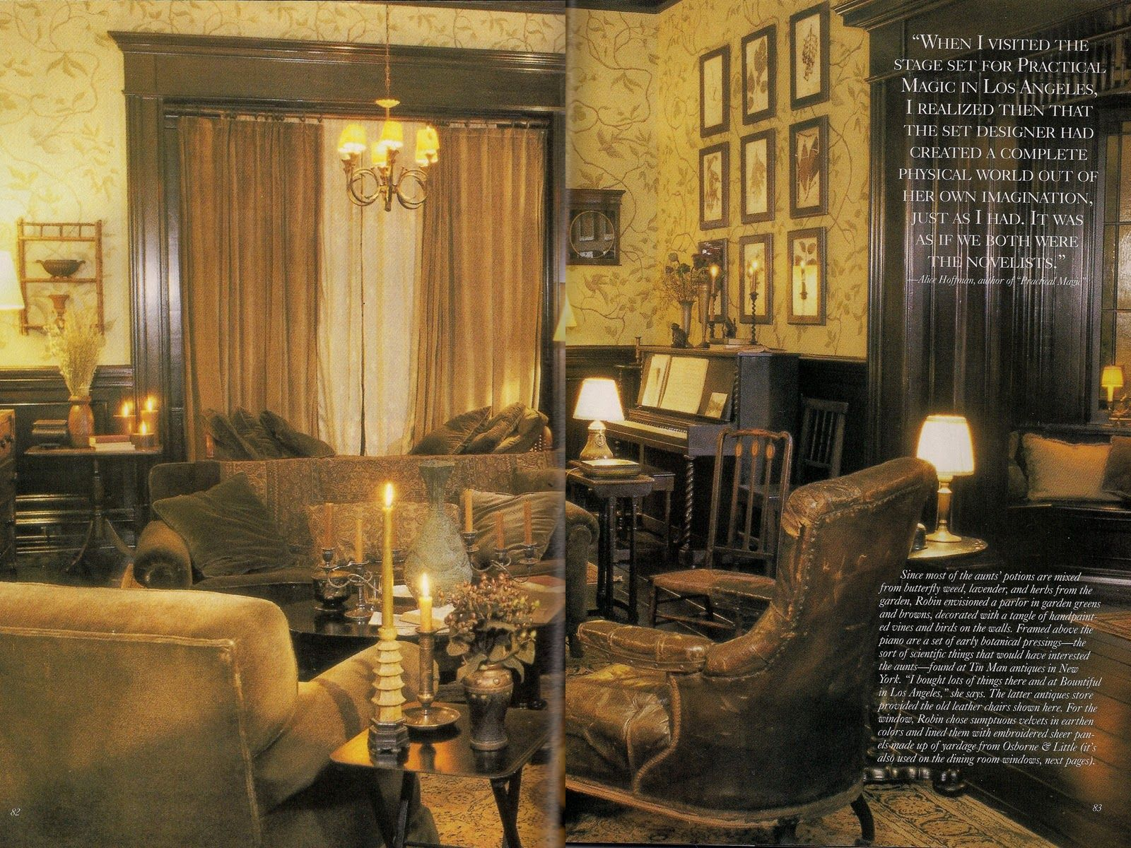 interior view of the parlor of the house in the movie practical interior view of the parlor of the house in the movie practical magic