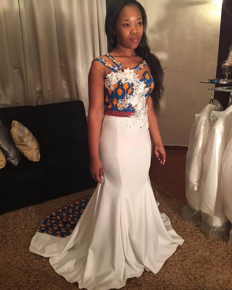 Traditional Wedding Dresses 2019 South Africa: Beautiful Shweshwe Traditional Wedding Dress 2019 In 2019