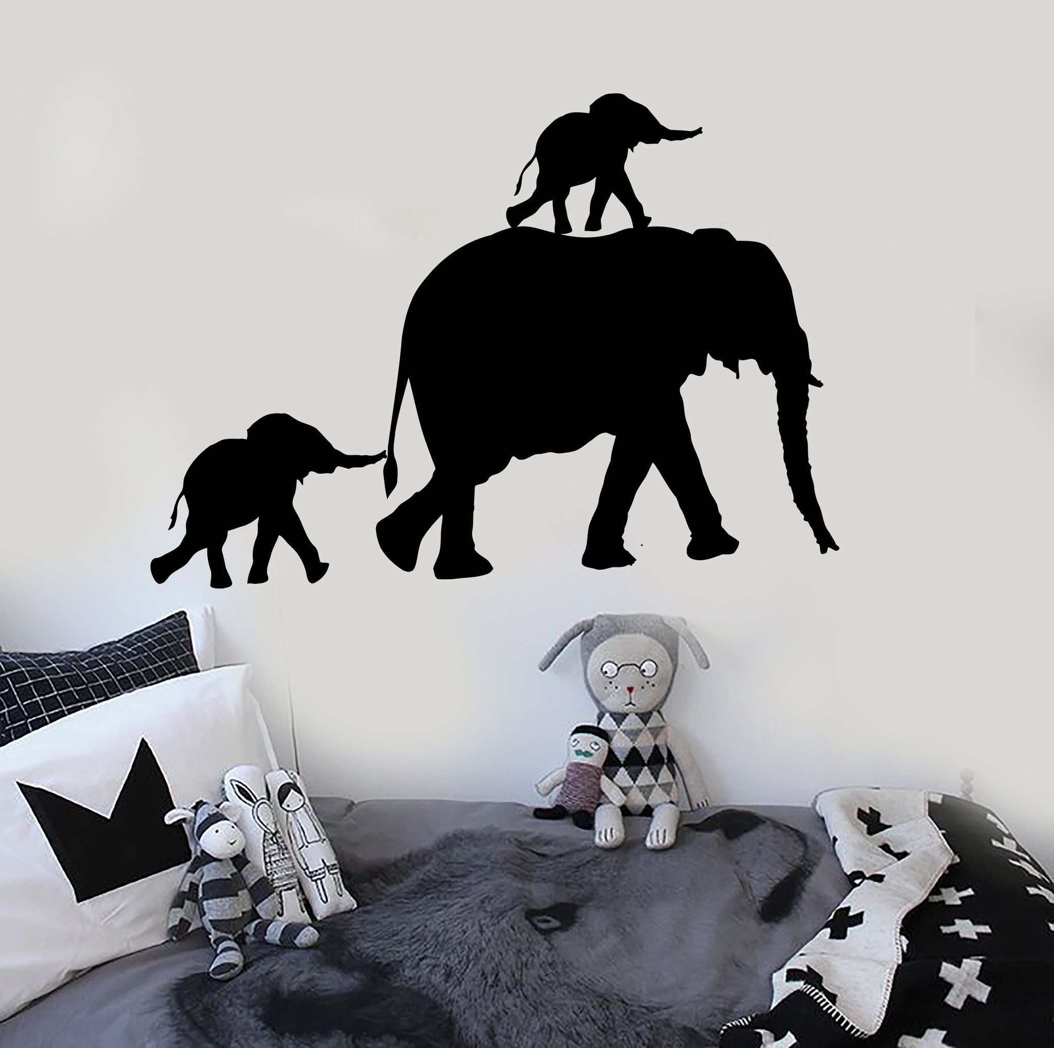 Best Vinyl Wall Decal Elephant Family Animal Room Decor Stickers Unique Gift Ig3878 Animal Room 640 x 480