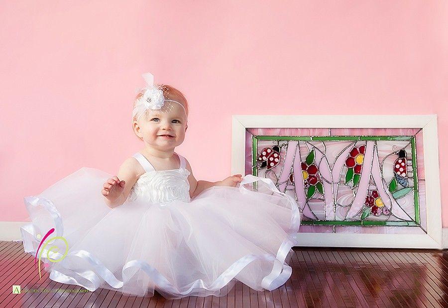 Ribbon Trimmed Tutu dress--rosette fabric top, fully lined, full tulle bottom--perfect portraits, christening,  flower girl