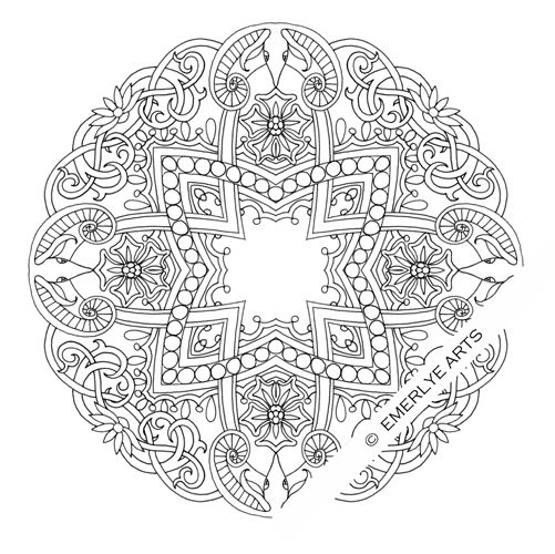 detailed coloring pages for adults deer and ox mandalas adult coloring pages