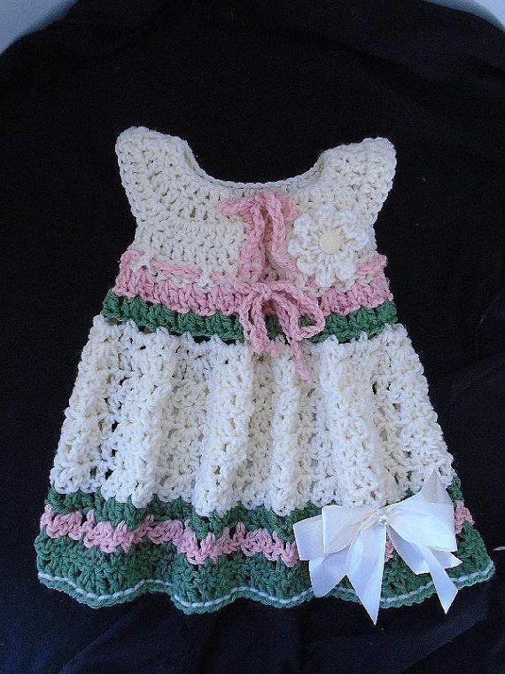 vestido del bebé del vestido de ganchillo fácil Modelo del ganchillo ...