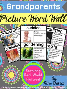 Grandparents Day Picture Word Wall Feat  Real World Pictures | Mrs