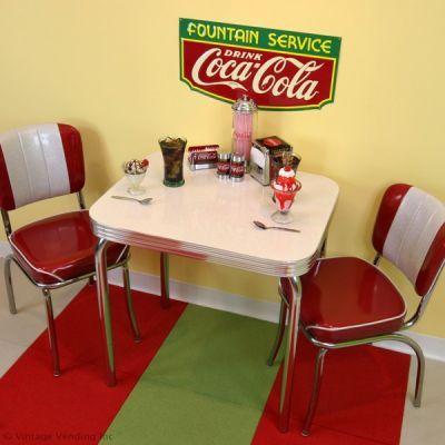 A Retro Coca Cola Soda Fountain Dinette Setup Home