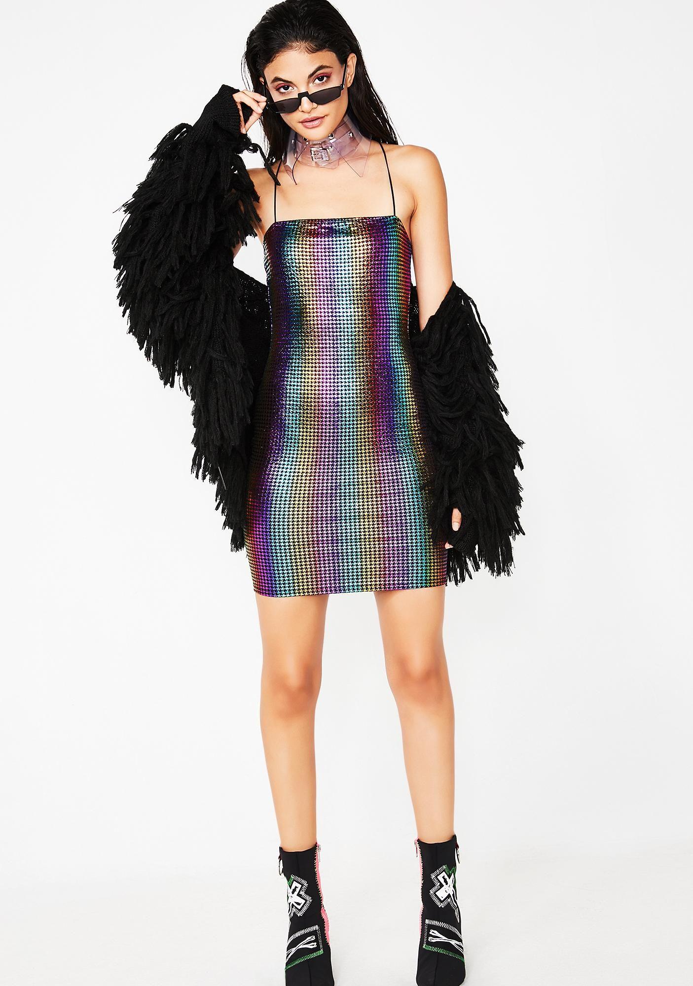 Party Has Arrived Rainbow Dress Rainbow Dress Dresses Bodycon Mini Dress [ 2000 x 1405 Pixel ]