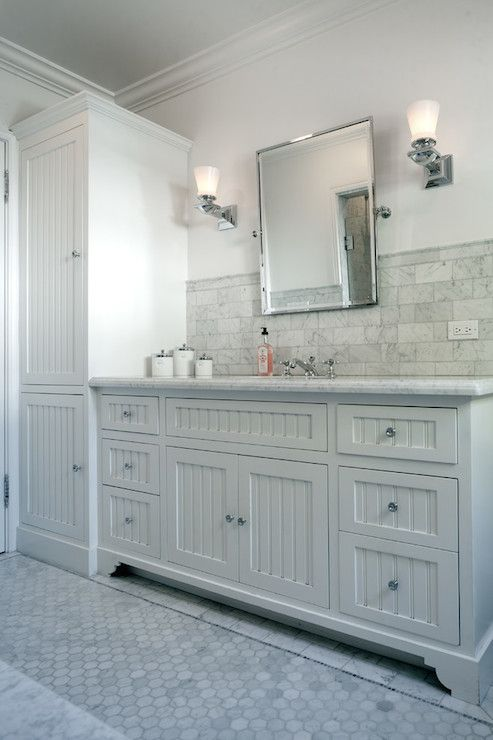 JWT Associates - bathrooms - beadboard front vanity, beadboard ...