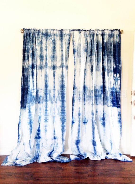 Shibori Curtains Colorful House Tie D