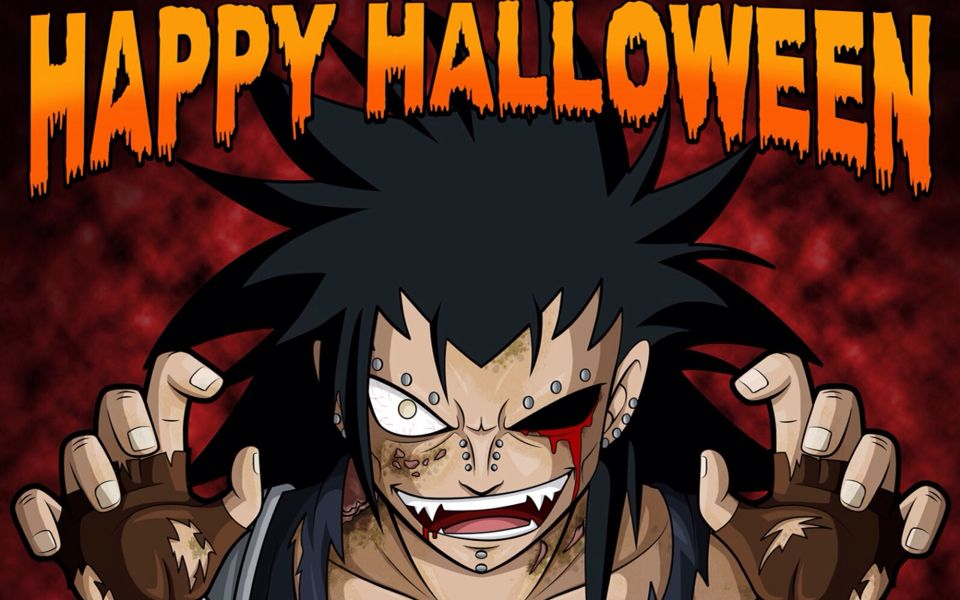Happy Halloween From Gajeel Zombie Wallpaper Anime Fairy Anime