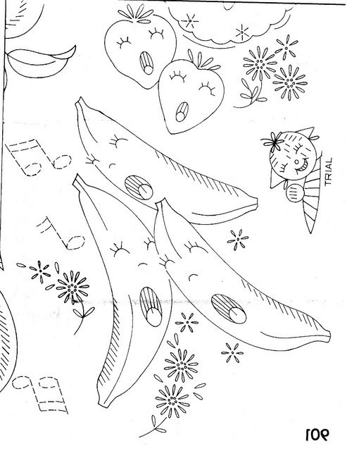 Design 901 Banana | Embroidery Fruit & Veg. | Pinterest | Bordado ...