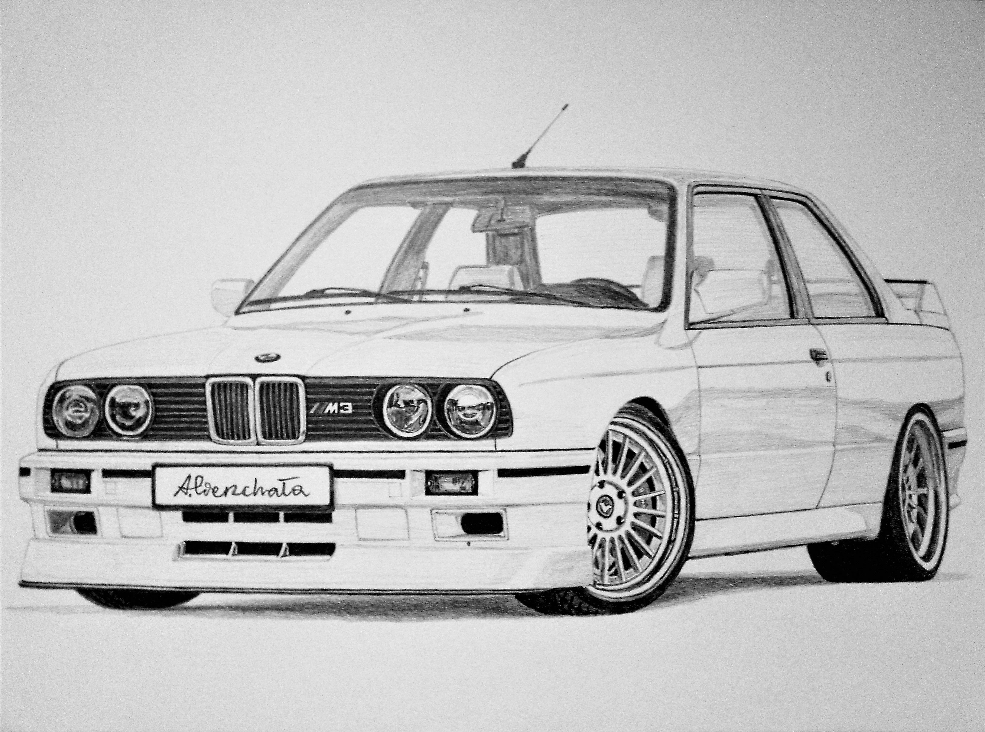 Bmw M3 E30 2 2 Car Drawings Bmw Art Cool Car Drawings