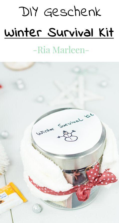 Winter Survival Kit - schnelle und einfache DIY Geschenkidee #weihnachtsdekoimglas