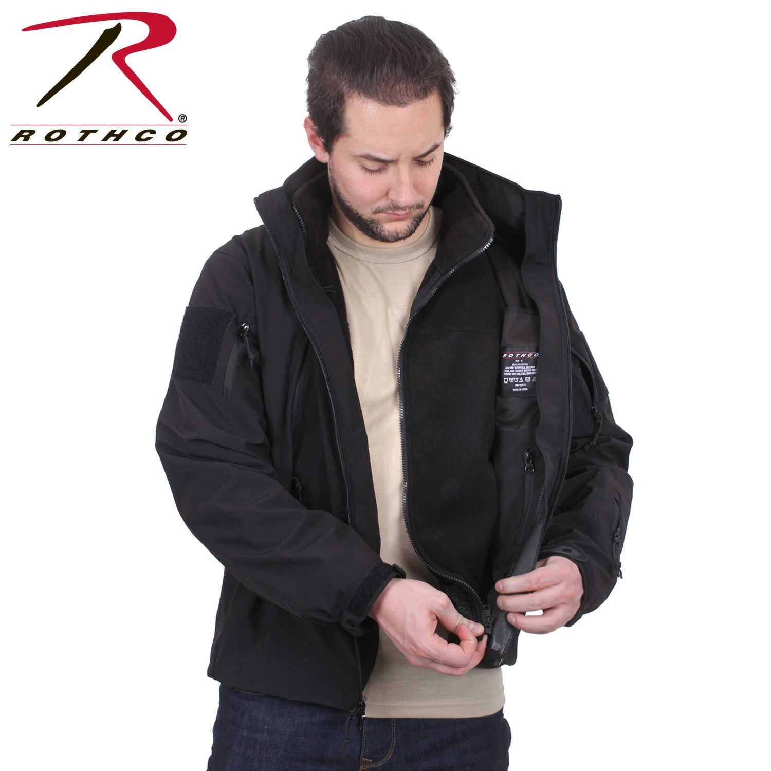 Rothco 3 In 1 Spec Ops Soft Shell Jacket Soft Shell Jacket Rothco Jackets [ 1500 x 1500 Pixel ]