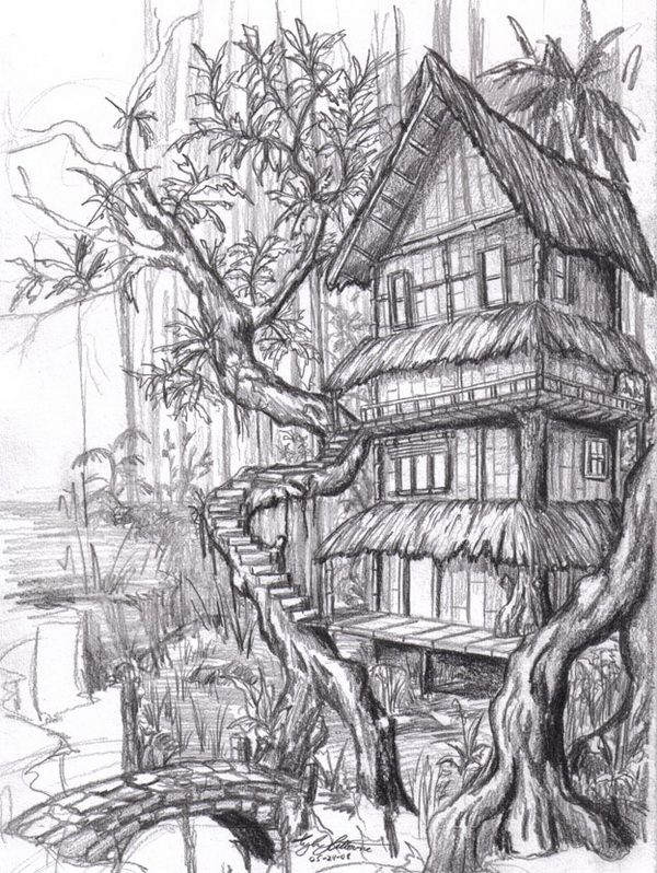 10 Beautiful House Pencil Drawings For Inspiration, Http