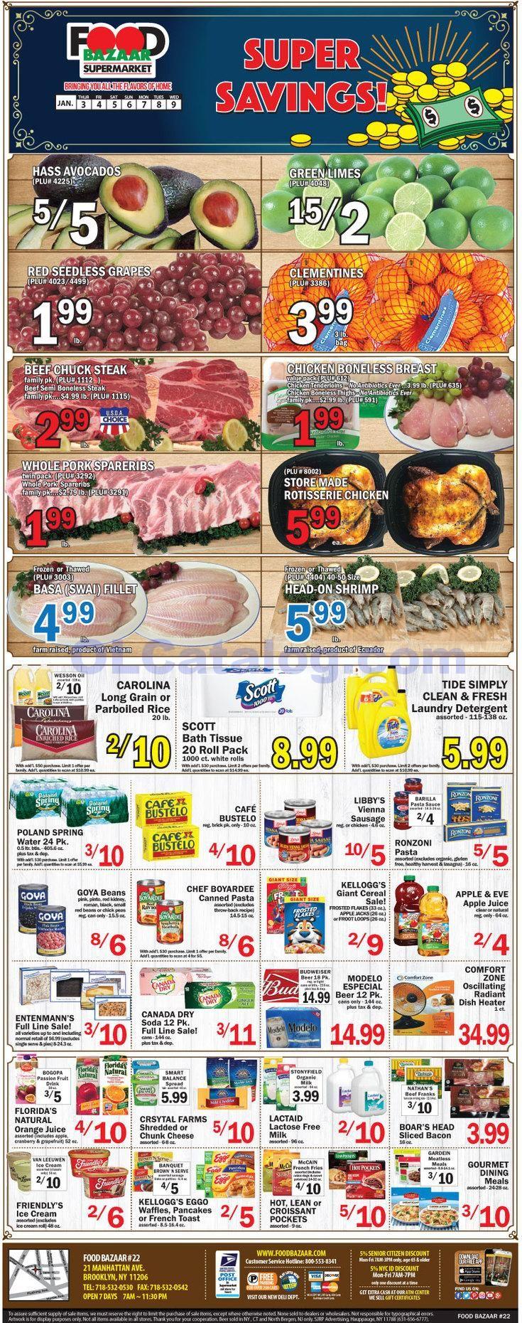 Food bazaar weekly ad january 3 9 2019 do you know