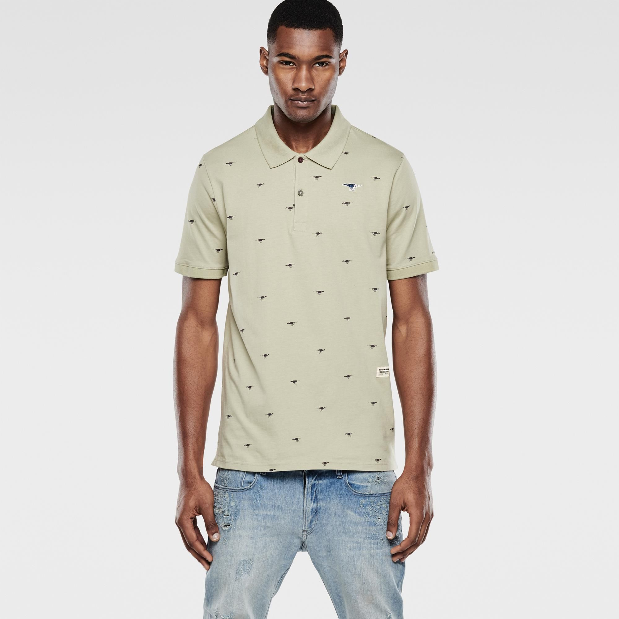 G-Star RAW | Men | T-shirts | Lufab Polo , Grege Green