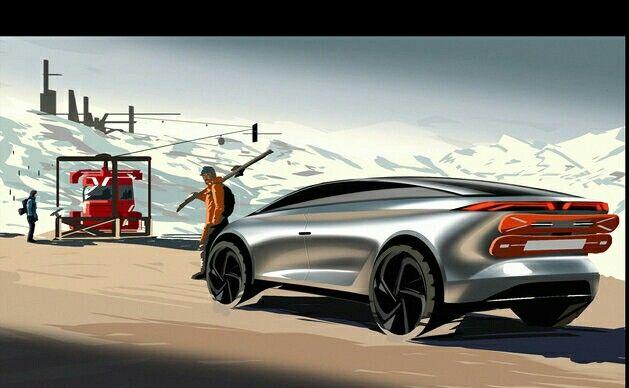 Kanani Motors all terrain GT Design by : Sharif Kanani  #kananimotors #allterrain #gt  #sketch #automobile #design #snow #adventure #render #sharifkanani #cardesigner