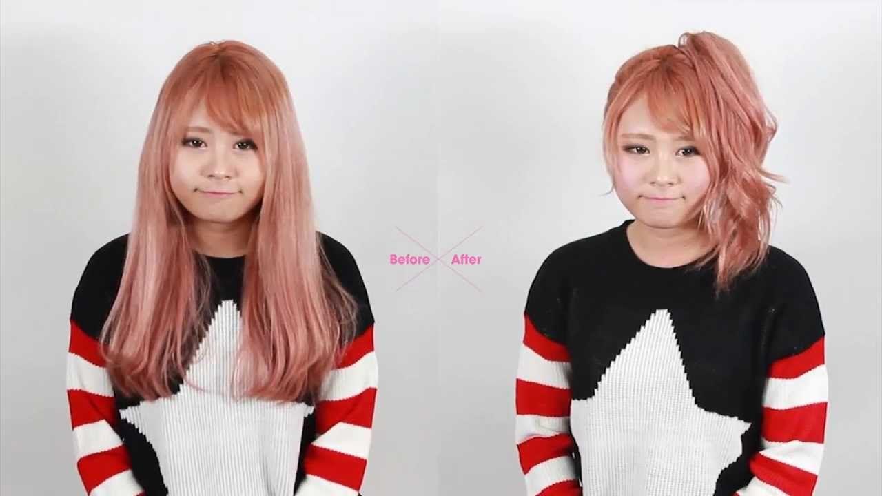[Korean Hairstyle] Voluminous Ponytail Hair Tutorial - [셀프헤어] 볼륨있게 포니테일 ...