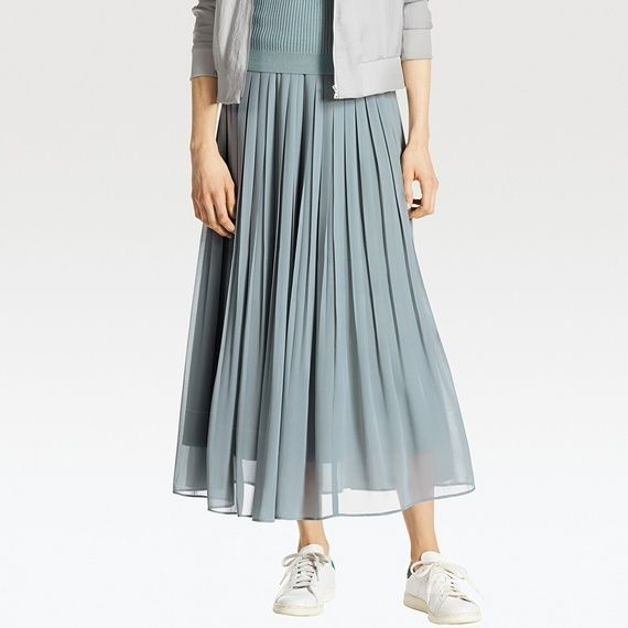 80d7870300 UNIQLO WOMEN HIGH WAIST CHIFFON PLEATED SKIRT | Outfits | Uniqlo ...