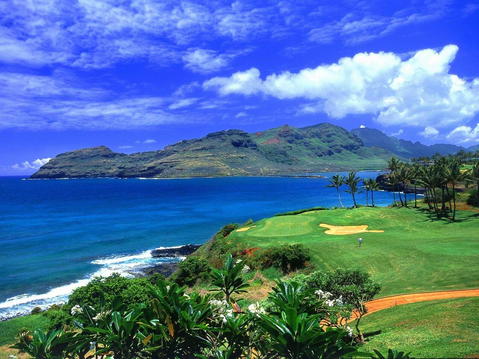Golf Hawaii Normal Hd Wallpapers High Definition 100 Hd Quality Landscape Wallpaper Hawaii Golf Hawaii Landscape